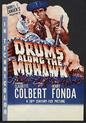 Royalty-Free and Rights-Managed Images - Movie poster for Drums Along the Mohawk, with Henry Fonda, 1939 by Stars on Art