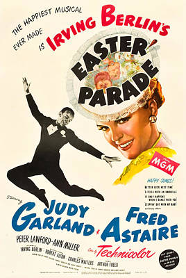 Open Impressionism California Desert Royalty Free Images - Movie poster for Easter Parade, with Judy Garland and Fred Astaire, 1948 Royalty-Free Image by Stars on Art