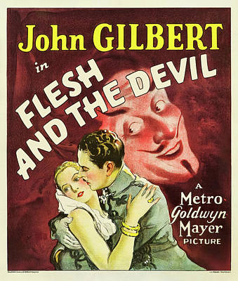 Royalty-Free and Rights-Managed Images - Movie poster for Flesh and the Devil, with John Gilbert and Greta Garbo, 1926 by Stars on Art