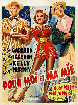 Open Impressionism California Desert Royalty Free Images - Movie poster for For Me and My Gal with Judy Garland and Gene Kelly, 1942 Royalty-Free Image by Stars on Art