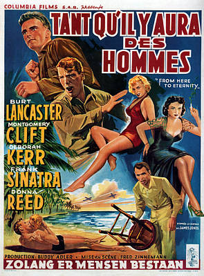 Mixed Media Royalty Free Images - From Here to Eternity, with Burt Lancaster, 1953 Royalty-Free Image by Stars on Art