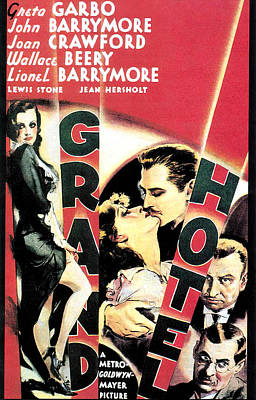 Pasta Al Dente Royalty Free Images - Movie poster for Grand Hotel, with Greta Garbo, 1932 Royalty-Free Image by Stars on Art