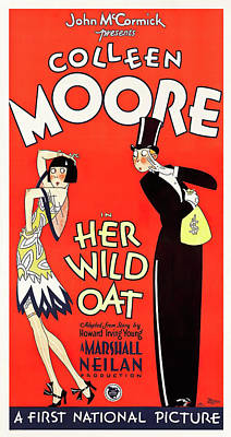 Royalty-Free and Rights-Managed Images - Movie poster for Her Wild Oat, with Colleen Moore, 1927 by Stars on Art