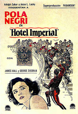 Mixed Media Royalty Free Images - Hotel Imperial, with Pola Negri, 1927 Royalty-Free Image by Stars on Art