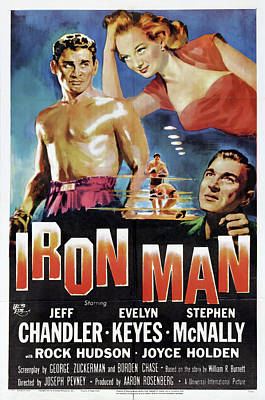 Kitchen Mark Rogan - Movie poster for Iron Man, with Jeff Chandler, 1951 by Stars on Art