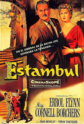Mixed Media Royalty Free Images - Istanbul, 2 with Errol Flynn, 1957 Royalty-Free Image by Stars on Art