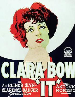 Caravaggio - Movie poster for It, with Clara Bow, 1927 by Stars on Art