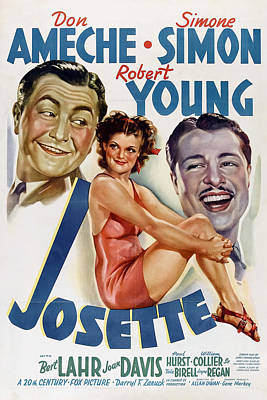 Pasta Al Dente Royalty Free Images - Movie poster for Josette, with Simone Simon and Don Ameche, 1938 Royalty-Free Image by Stars on Art