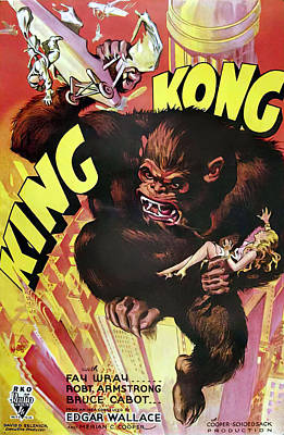 Bringing The Outdoors In - Movie poster for King Kong, 1933 by Stars on Art