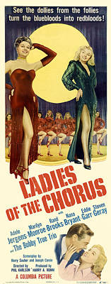 Curated Beach Towels - Movie poster for Ladies of the Chorus,1949 by Stars on Art