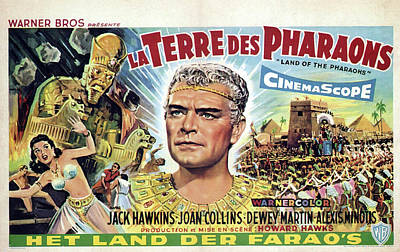 Bringing The Outdoors In - Movie poster for Land of the Pharaohs, 1955 by Stars on Art