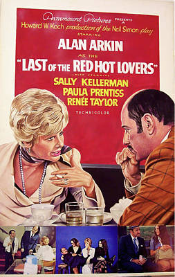Bringing The Outdoors In - Movie poster for Last of the Red Hot Lovers, with Alan Arkin, 1972 by Stars on Art