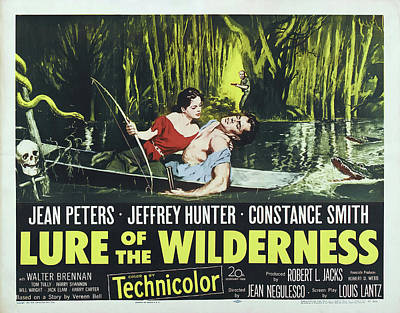 Caravaggio - Movie poster for Lure of the Wilderness, with Jean Peters, 1952 by Stars on Art