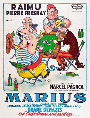 Bringing The Outdoors In - Movie poster for Marius, 1933 by Stars on Art