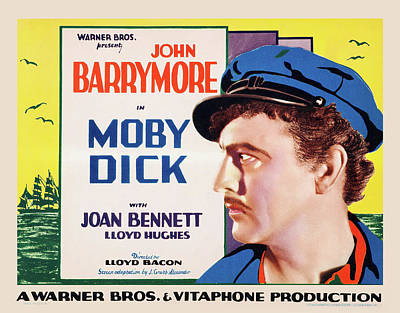 Bringing The Outdoors In - Movie poster for Moby Dick with John Barrymore, 1930 by Stars on Art