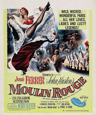 Royalty-Free and Rights-Managed Images - Movie poster for Moulin Rouge, with Jose Ferrer, 1952 by Stars on Art