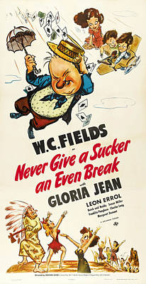 Open Impressionism California Desert Royalty Free Images - Movie poster for Never Give a Sucker an Even Break, with W.C. Fields, 1941 Royalty-Free Image by Stars on Art