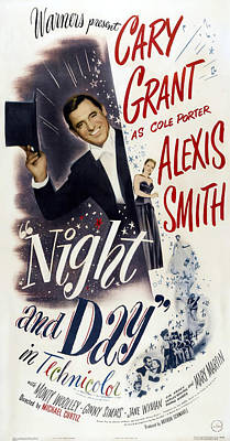 Open Impressionism California Desert Royalty Free Images - Movie poster for Night and Day, with Cary Grant, 1946 Royalty-Free Image by Stars on Art