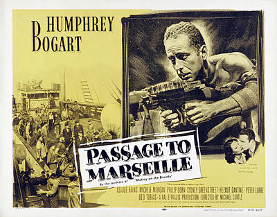 Bringing The Outdoors In - Movie poster for Passage to Marseille, with Humphrey Bogart, 1944 by Stars on Art