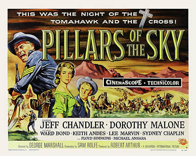 Mixed Media Royalty Free Images - Pillars of the Sky, with Jeff Chandler, 1956 Royalty-Free Image by Stars on Art