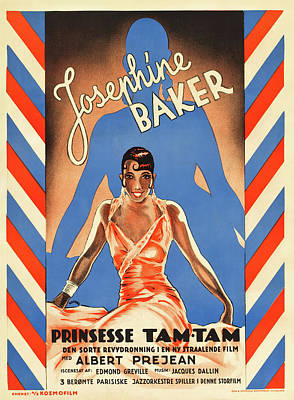 Royalty-Free and Rights-Managed Images - Movie poster for Princess Tam-Tam, with Josephine Baker, 1935 by Stars on Art