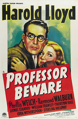 Bringing The Outdoors In - Movie poster for Professor Beware, with Harold Lloyd, 1938 by Stars on Art