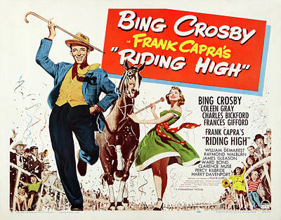 Bringing The Outdoors In - Movie poster for Riding High, with Bing Crosby, 1950 by Stars on Art