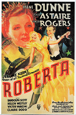 Open Impressionism California Desert Royalty Free Images - Movie poster for Roberta, with Fred Astaire and Ginger Rogers, 1935 Royalty-Free Image by Stars on Art