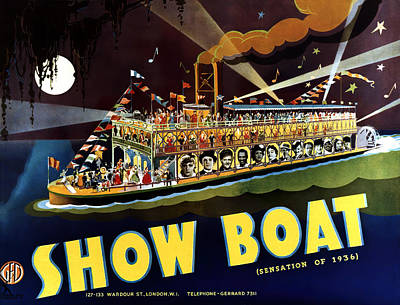 Open Impressionism California Desert Royalty Free Images - Movie poster for Show Boat, 1936 Royalty-Free Image by Stars on Art