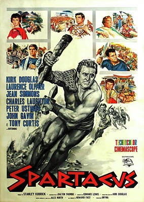 Open Impressionism California Desert Royalty Free Images - Movie poster for Spartacus, with Kirk Douglas, 1960 Royalty-Free Image by Stars on Art