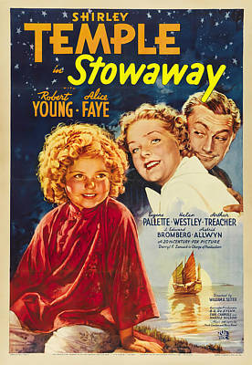 Pop Art Rights Managed Images - Movie poster for Stowaway, with Shirley Temple, 1936 Royalty-Free Image by Stars on Art