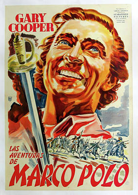 Bringing The Outdoors In - Movie poster for The Adventures of Marco Polo, 1938 by Stars on Art