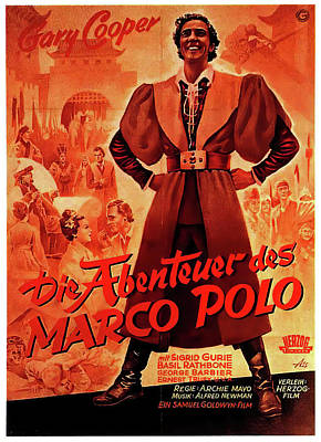 Royalty-Free and Rights-Managed Images - Movie poster for The Adventures of Marco Polo, with Gary Cooper, 1938 by Stars on Art
