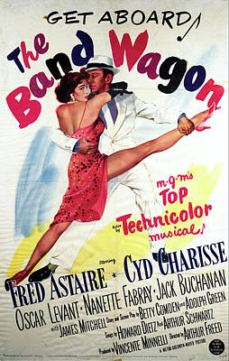 Bringing The Outdoors In - Movie poster for The Band Wagon with Fred Astaire, 1953 by Stars on Art