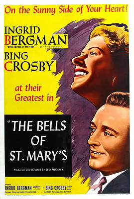 Bringing The Outdoors In - Movie poster for The Bells of St. Marys with Ingrid Bergman, 1945 by Stars on Art