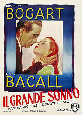 Pop Art Rights Managed Images - Movie poster for The Big Sleep, with Humphrey Bogart and Lauren Bacall, 1946 Royalty-Free Image by Stars on Art
