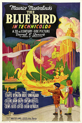 Bringing The Outdoors In - Movie poster for The Blue Bird, with Shirley Temple, 1940 by Stars on Art