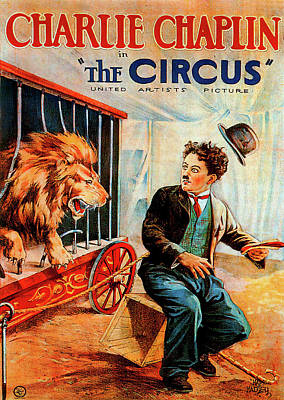 Royalty-Free and Rights-Managed Images - Movie poster for The Circus, with Charlie Chaplin, 1928 by Stars on Art