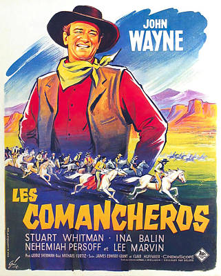 Royalty-Free and Rights-Managed Images - Movie poster for The Comancheros, 2 with John Wayne, 1961 by Stars on Art