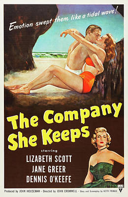 Kitchen Mark Rogan - Movie poster for The Company She Keeps, with Lizabeth Scott, 1951 by Stars on Art