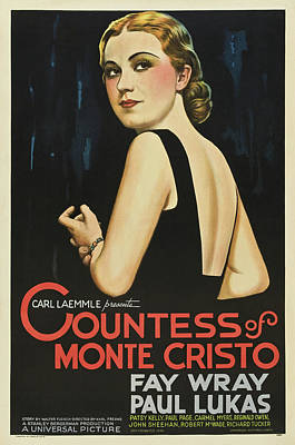 Bringing The Outdoors In - Movie poster for The Countess of Monte Cristo, 1934 by Stars on Art
