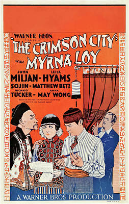 Pasta Al Dente Royalty Free Images - Movie poster for The Crimson City, with Myrna Loy, 1928 Royalty-Free Image by Stars on Art