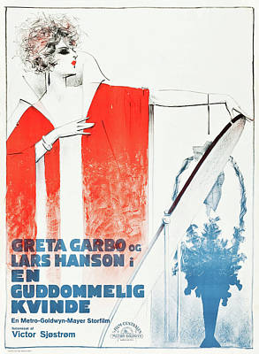 Open Impressionism California Desert Royalty Free Images - Movie poster for The Divine Woman, with Greta Garbo, 1928 Royalty-Free Image by Stars on Art