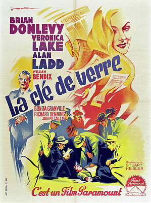 Open Impressionism California Desert Royalty Free Images - Movie poster for The Glass Key, with Veronica Lake and Alan Ladd, 1942 Royalty-Free Image by Stars on Art