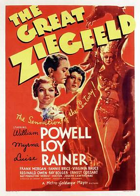 Open Impressionism California Desert Royalty Free Images - Movie poster for The Great Ziegfeld, with William Powell and Luise Rainer, 1936 Royalty-Free Image by Stars on Art