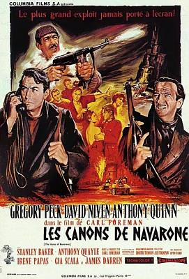 Pop Art Rights Managed Images - Movie poster for The Guns of Navarone 2, with Gregory Peck and Anthony Quinn, 1961 Royalty-Free Image by Stars on Art