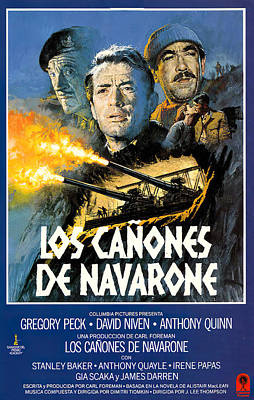 Royalty-Free and Rights-Managed Images - Movie poster for The Guns of Navarone, with Gregory Peck, 1961 by Stars on Art