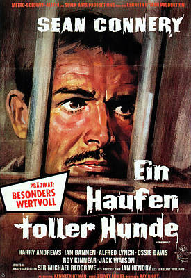 Bringing The Outdoors In - Movie poster for The Hill, with Sean Connery, 1965 by Stars on Art