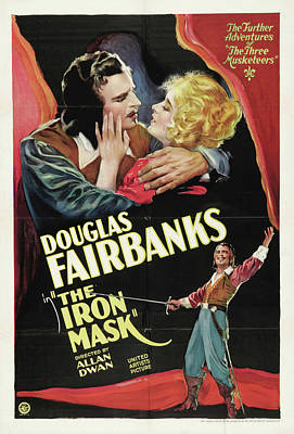 Bringing The Outdoors In - Movie poster for The Iron Mask, with Douglas Fairbanks, 1929 by Stars on Art