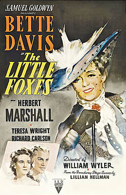 Caravaggio - Movie poster for The Little Foxes, with Bette Davis, 1941 by Stars on Art